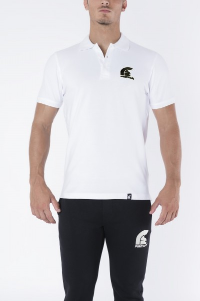 """""""CONSUL"""" - White Polo Shirt with Embroidered Logo"""