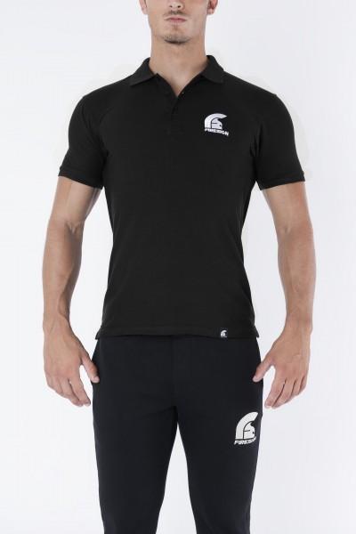 """SENATOR"" - Black Polo Shirt with Embroidered ""Firesign"" Logo"