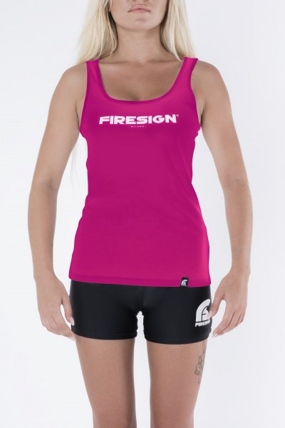 "Raspberry Tank Top for Woman with ""Firesign Milano"" Print"