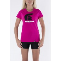 Raspberry T-Shirt for Woman with Logo Print