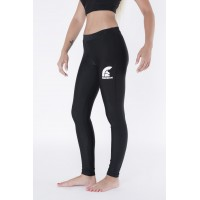 Black Long Lycra Gym Pants with Printed Logo