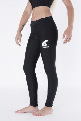 """SNAKE"" - Black Lycra Leggings with Printed Logo"
