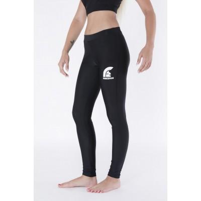 Black Long Lycra Gym Pants with Printed Logo
