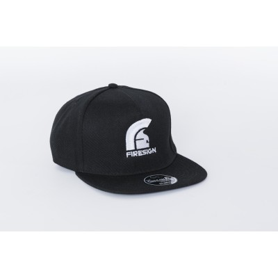Black Hip Hop Cap with Embroidered Logo