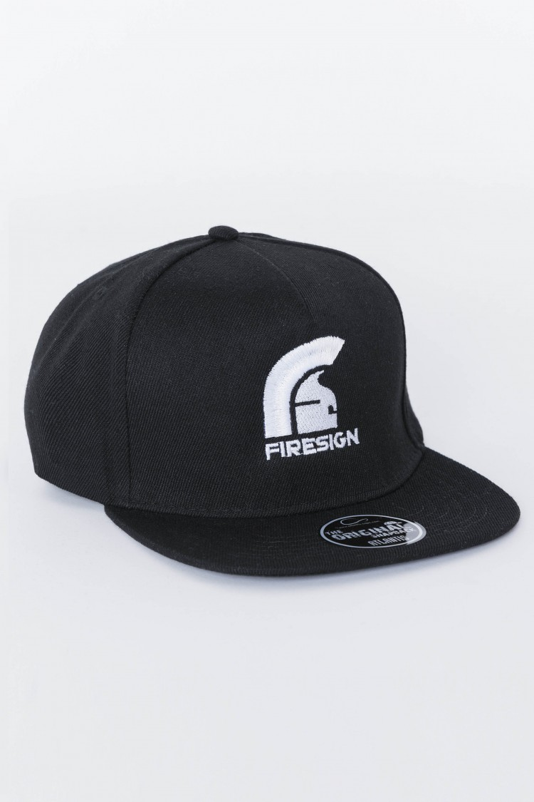 """SKATER"" - Black Hip Hop Cap with Embroidered Logo"