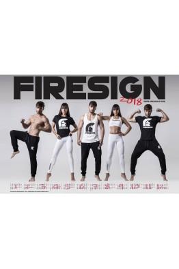 """FIRESIGN"" Calendar 2018 print 50cm x 70cm"