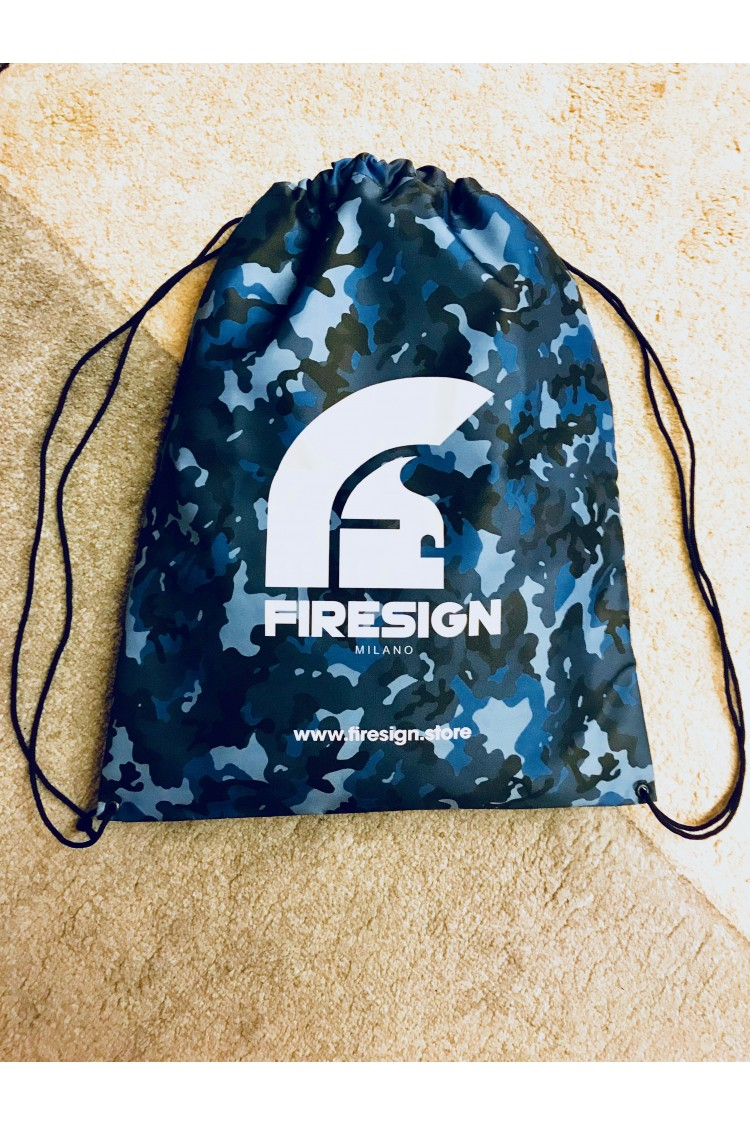 """LOADRUNNER"" - Pacific Blue Camouflage Gym/Beach Bag with White Logo Print"