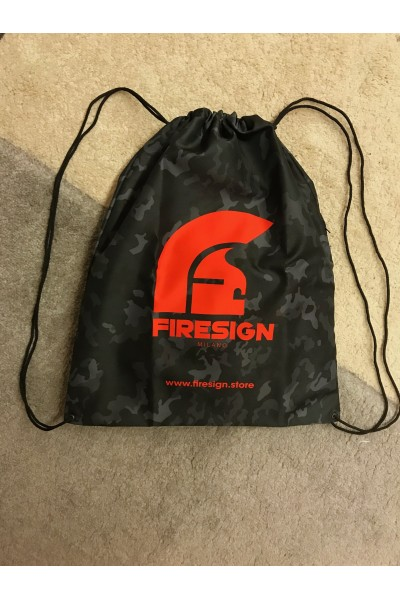 """LOADRUNNER"" - Carbon Black Camouflage Gym/Beach Bag with Red Logo Print"
