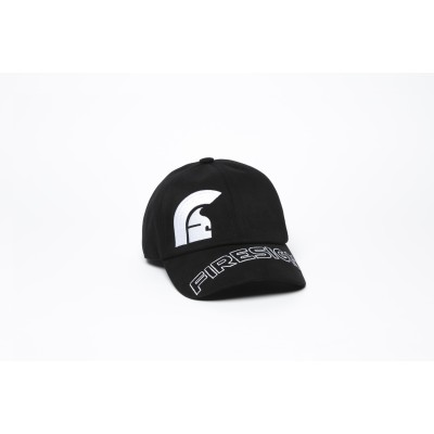 """Black Baseball Cap with Embroidered Asymmetric logo and """"FIRESIGN"""""""