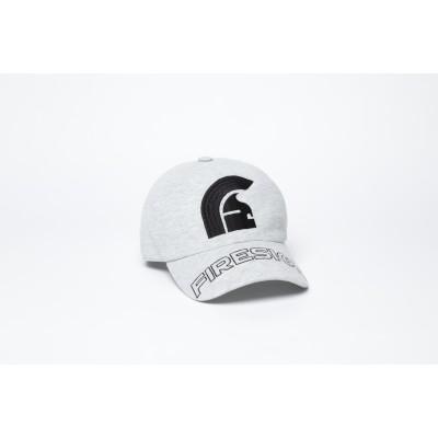 "Melange Grey Baseball Cap with Embroidered Centered Logo and ""FIRESIGN"""