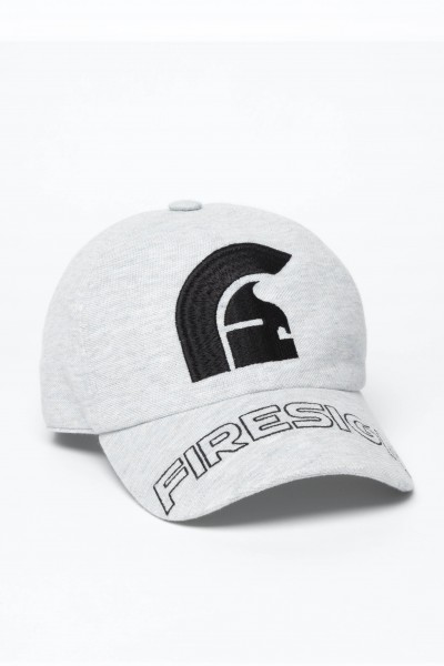 "Melange Grey Baseball Cap with Embroidered Centered Logo and ""FIRESIGN"""
