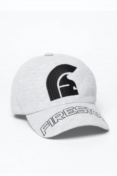 """HELM"" - Melange Grey Baseball Cap with Embroidered Centered Logo and ""FIRESIGN"""