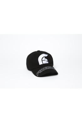 "Black Baseball Cap with Embroidered Centered Logo and ""FIRESIGN"""