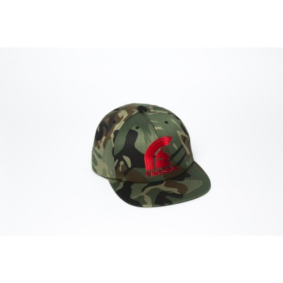 Army Camouflage Hip Hop Cap with Red Embroidered Logo
