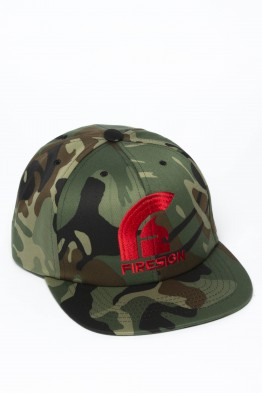 """SIEGE"" - Army Camouflage Hip Hop Cap with Red Embroidered Logo"