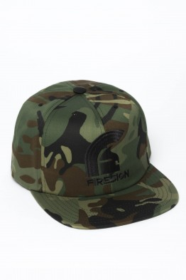 """SIEGE"" - Army Camouflage Hip Hop Cap with Black Embroidered Logo"