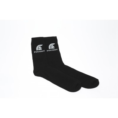 Black Gym Socks for Man with Embroidered Logo