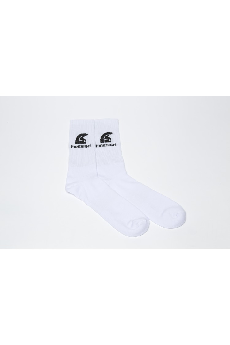 White Gym Socks for Man with Embroidered Logo