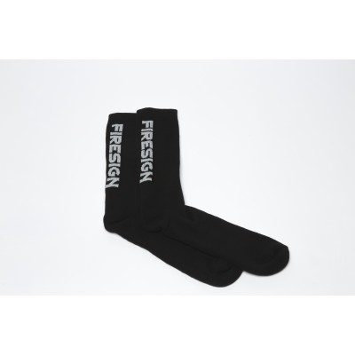 """Black Gym Socks for Man with Embroidered """"FIRESIGN"""""""