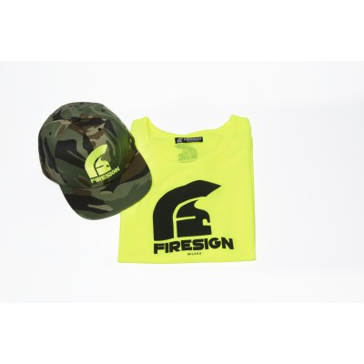 Special Gift Package Yellow Fluo Tank Top and Army Cap with Yellow Fluo Logo