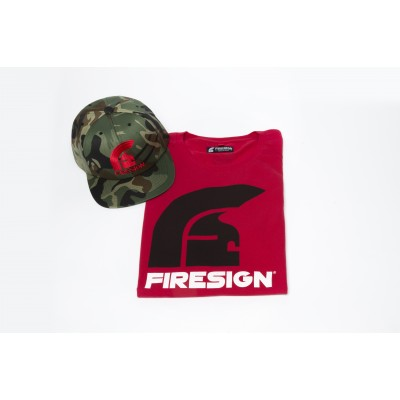 Special Gift Package Red T-Shirt and Army Cap with Red Logo