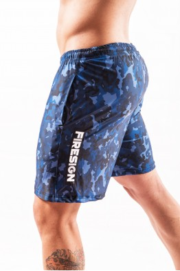 """NAVY FORCE"" - Pacific Blue Camouflage Swimwear Shorts for Man"