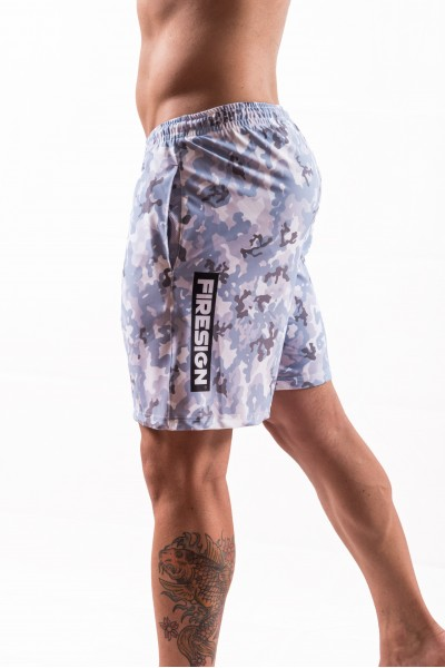 """NAVY FORCE"" - Arctic White Camouflage Swimwear Shorts for Man"