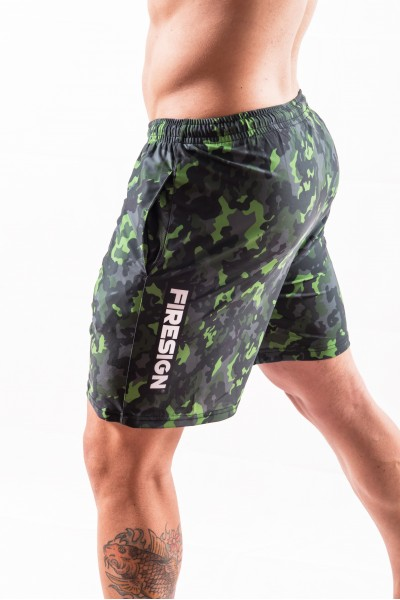 """NAVY FORCE"" - Rainforest Green Camouflage Swimwear Shorts for Man"