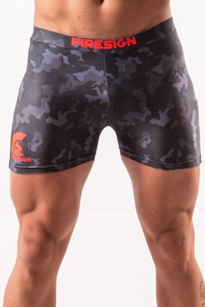 """NAVY BRIEF"" - Carbon Black Camouflage Swimwear Brief for Man"