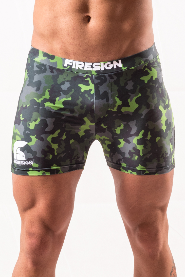 """NAVY BRIEF"" - Rainforest Green Camouflage Swimwear Brief for Man"